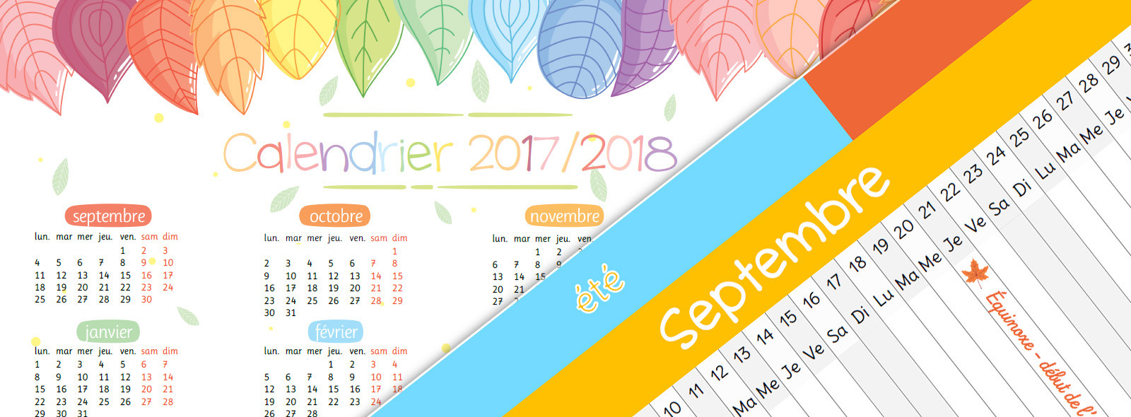 Calendriers 2017-2018