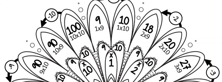 Mandalas des tables de multiplication par 9 et par 10