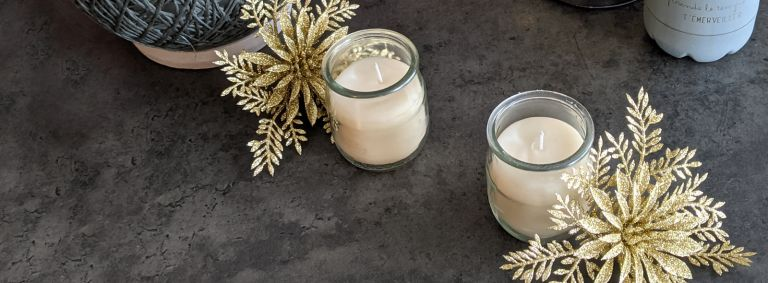 Bricolage de Noël - bougies maison (récupération)