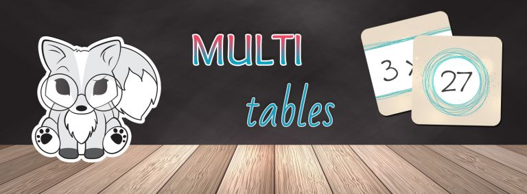 Multi tables - jeu des tables de multiplications