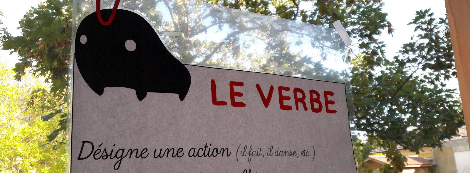 Affichage du verbe