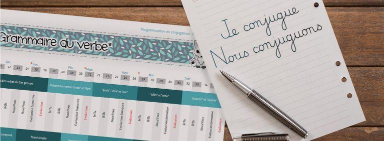Conjugaison - programmation en CE1/CM1 - 2018/2019
