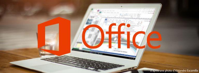 Microsoft Office sur un ordinateur
