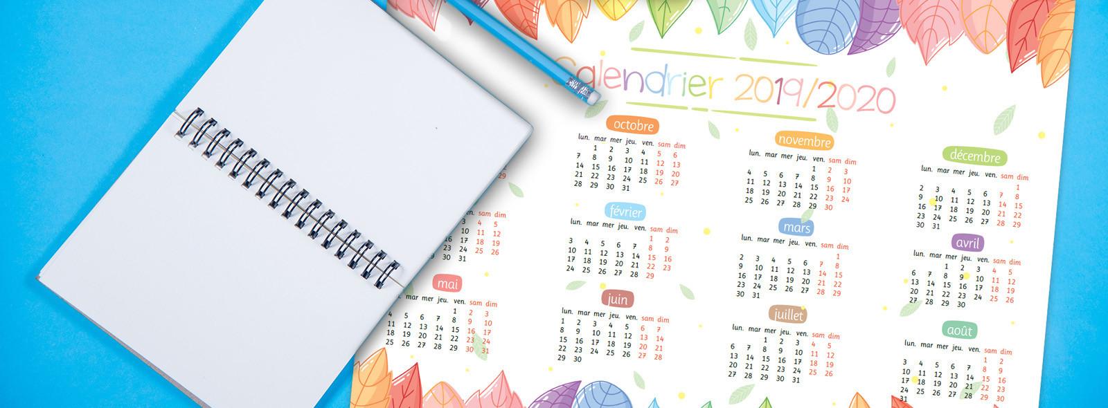 Calendrier Juillet 2020 A Imprimer Gratuit.Un Calendrier Annuel 2019 2020 La Taniere De Kyban