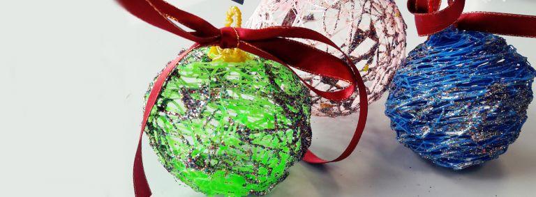 stylo 3D - boules de Noël - bricolage de Noël
